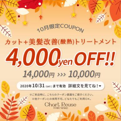 【10月限定クーポン】カット+美髪(酸熱)トリートメント ¥14,000→¥10,000 イメージ