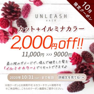 【10月限定クーポン】カット+イルミナカラー 通常価格¥11,000→¥9,000 イメージ